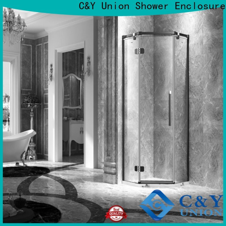 C&Y Union firm frameless shower screen cubicles for tub
