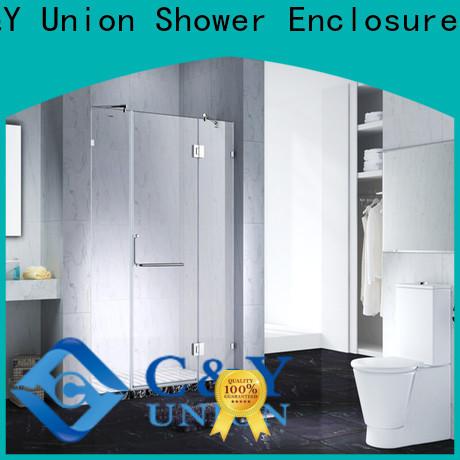 C&Y Union frameless shower enclosure cubicles for bathtub
