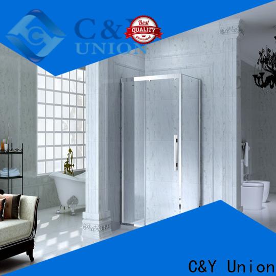 C&Y Union aluminum semi framed shower manufacturer for corner