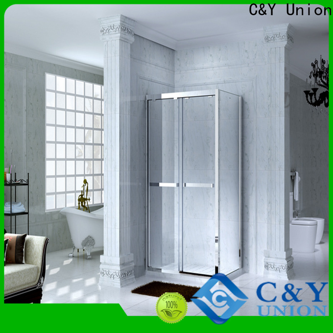 C&Y Union aluminum framed glass shower for sale for bagnio
