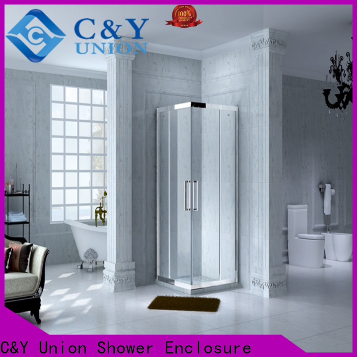 C&Y Union framed glass shower door for sale for alcove