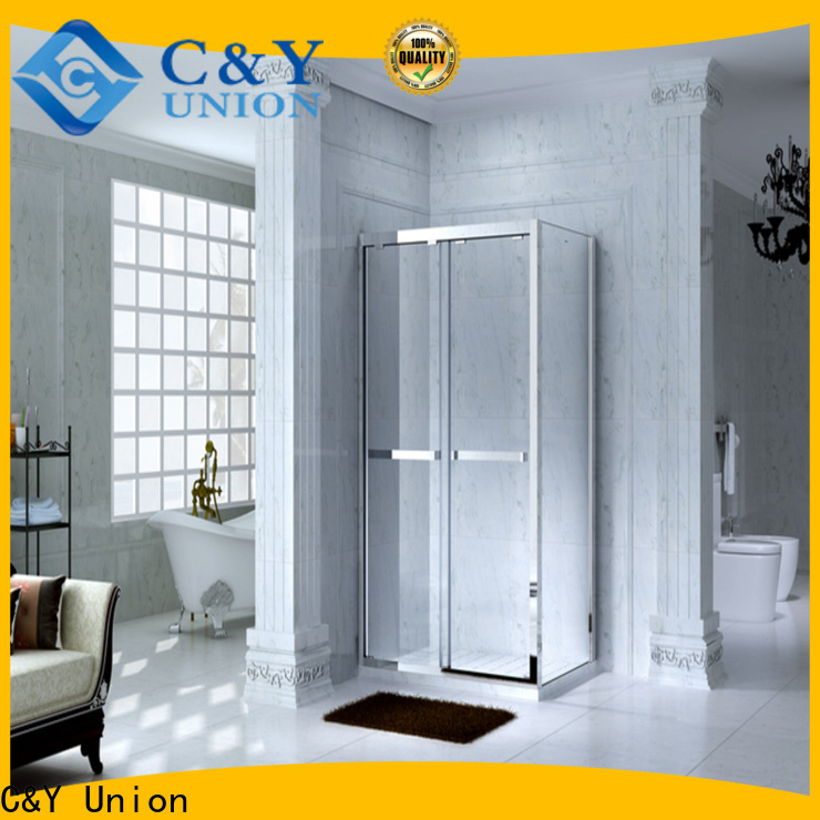 C&Y Union custom framed shower doors for sale for bathroom