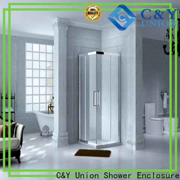C&Y Union stainless steel custom framed shower doors manufacturer for bagnio