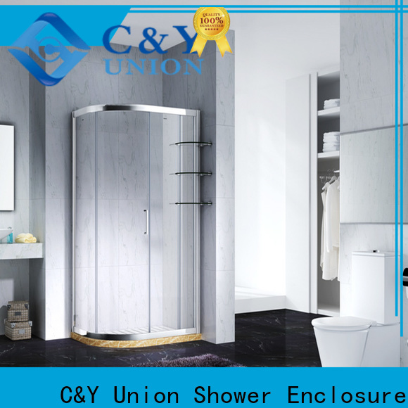C&Y Union framed shower glass doors for tub for bathtub showers