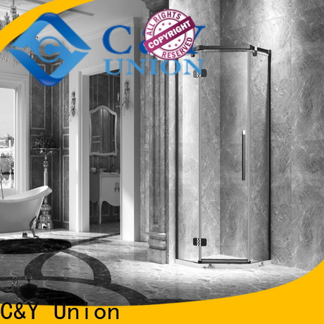 C&Y Union firm frameless shower enclosure shower screen for tub