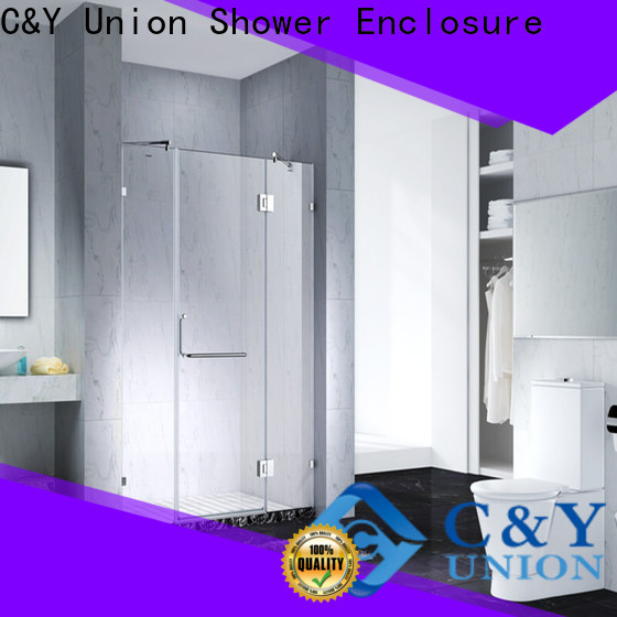 C&Y Union stable semi frameless shower door shower panels for tub