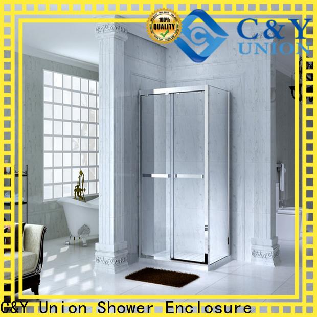 C&Y Union custom framed shower doors manufacturer for alcove