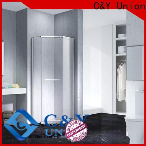 C&Y Union practical frameless glass shower shower screen for bath