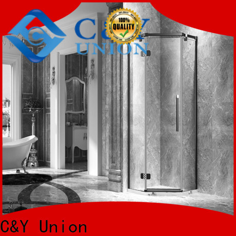 C&Y Union practical semi frameless shower door cubicles for bath