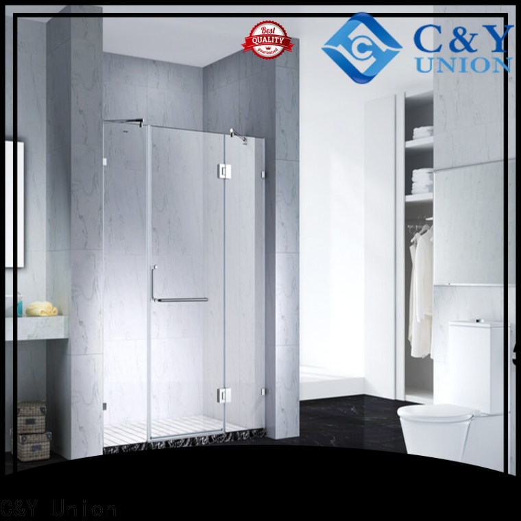 C&Y Union practical semi frameless shower door cabin for bathroom