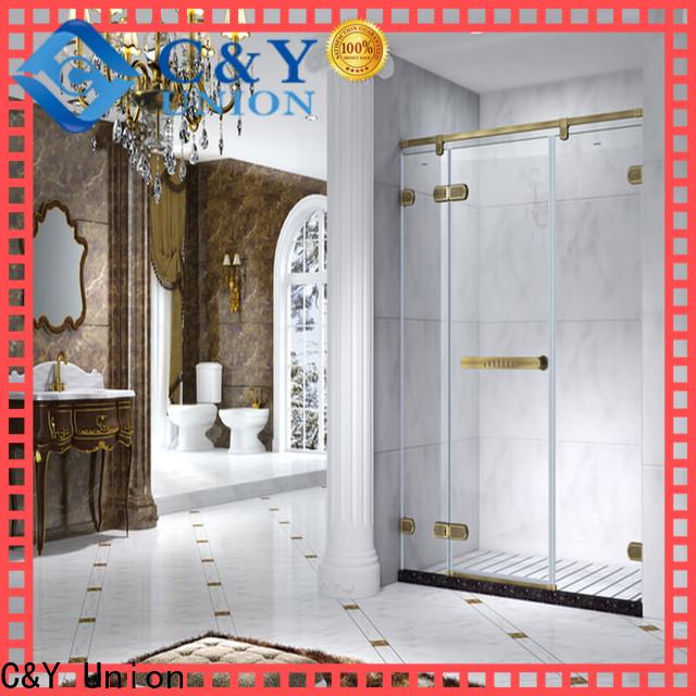 C&Y Union frameless shower screen for bath
