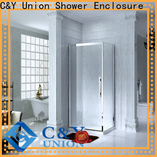 C&Y Union framed glass shower enclosure for tub for alcove