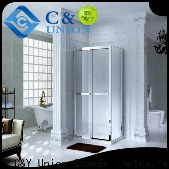 C&Y Union colorful framed glass shower for corner