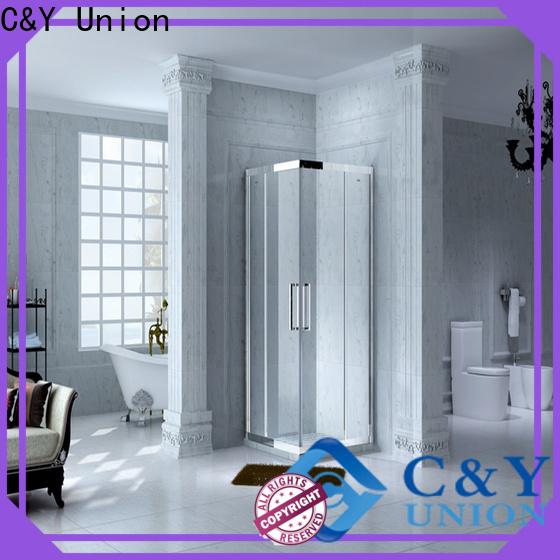 C&Y Union aluminum semi framed shower door manufacturer for alcove
