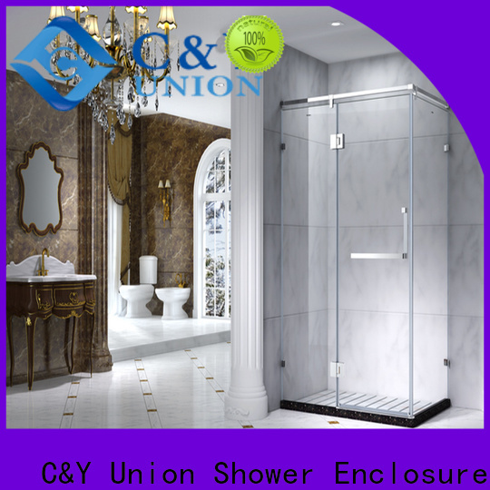 C&Y Union stainless steel framed glass shower for sale for bath