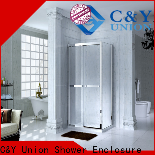 C&Y Union stainless steel framed glass shower door manufacturer for bagnio