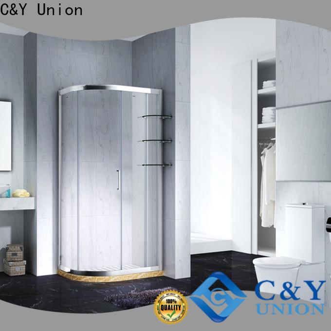 C&Y Union framed glass shower enclosure for tub for corner