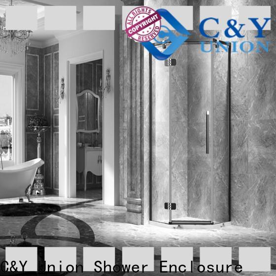 C&Y Union practical frameless shower enclosure shower panels for bathtub