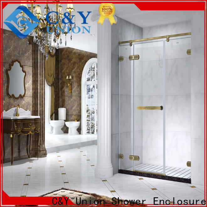 C&Y Union stable frameless glass shower doors cubicles for bagnio