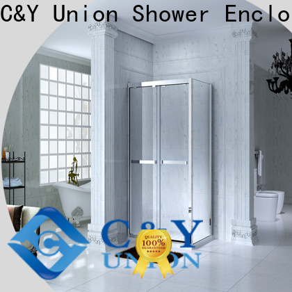 C&Y Union framed glass shower for sale for standalone showers