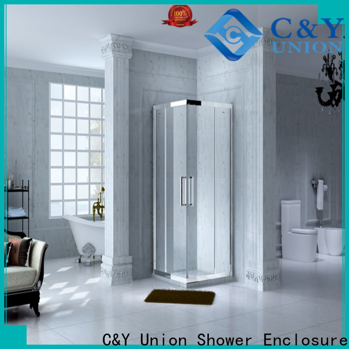 C&Y Union framed glass shower door for sale for bathtub showers