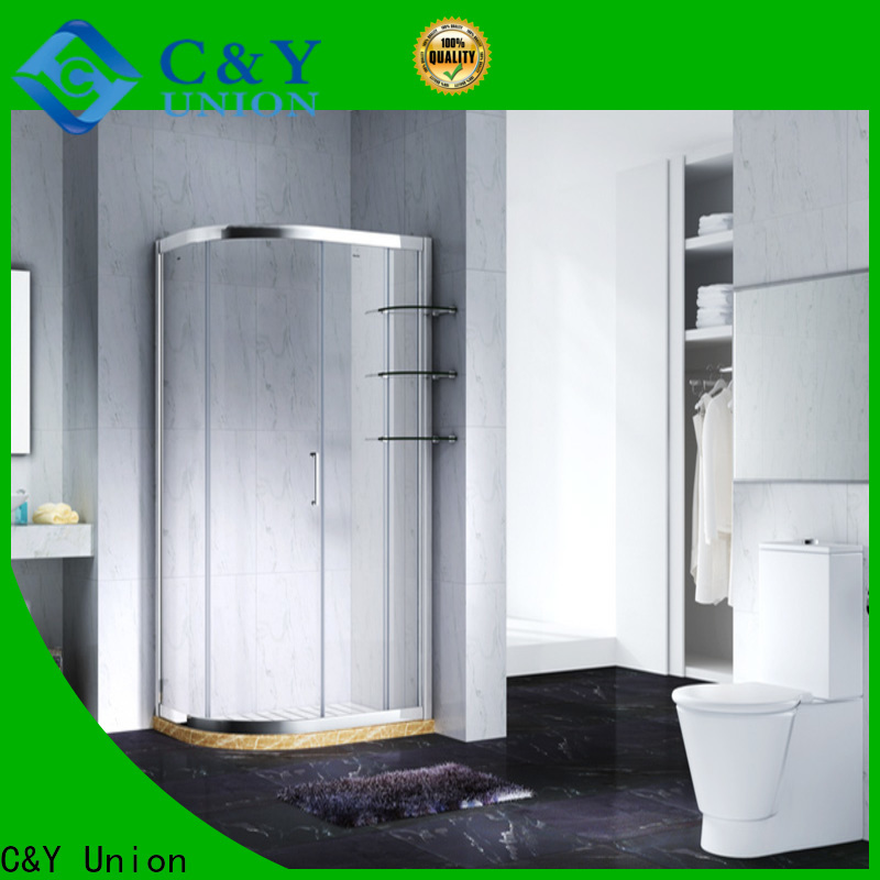 C&Y Union aluminum framed glass shower door for tub for bathtub showers