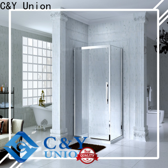 C&Y Union framed glass shower door manufacturer for standalone showers