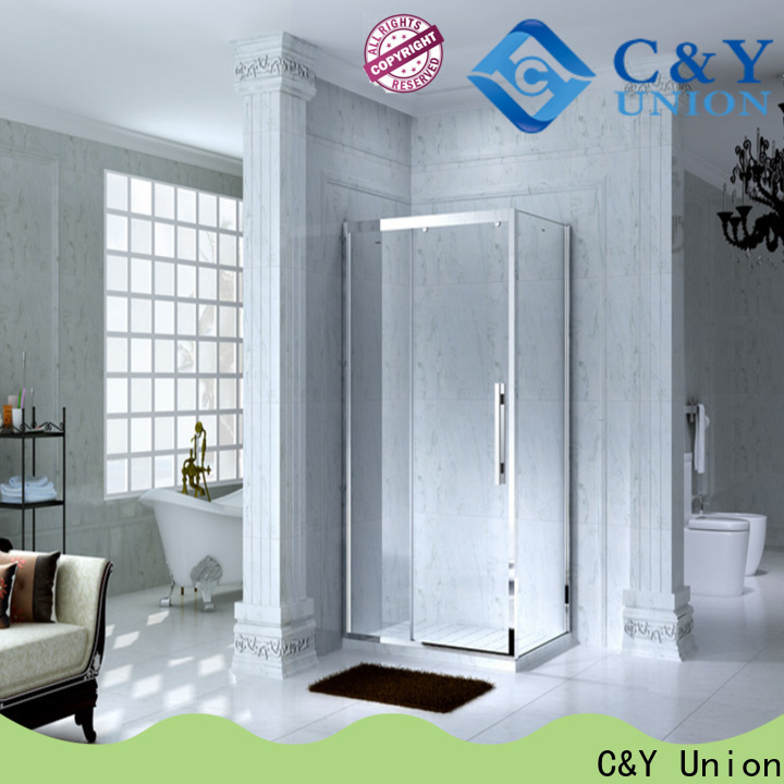 C&Y Union colorful custom framed shower doors for bath