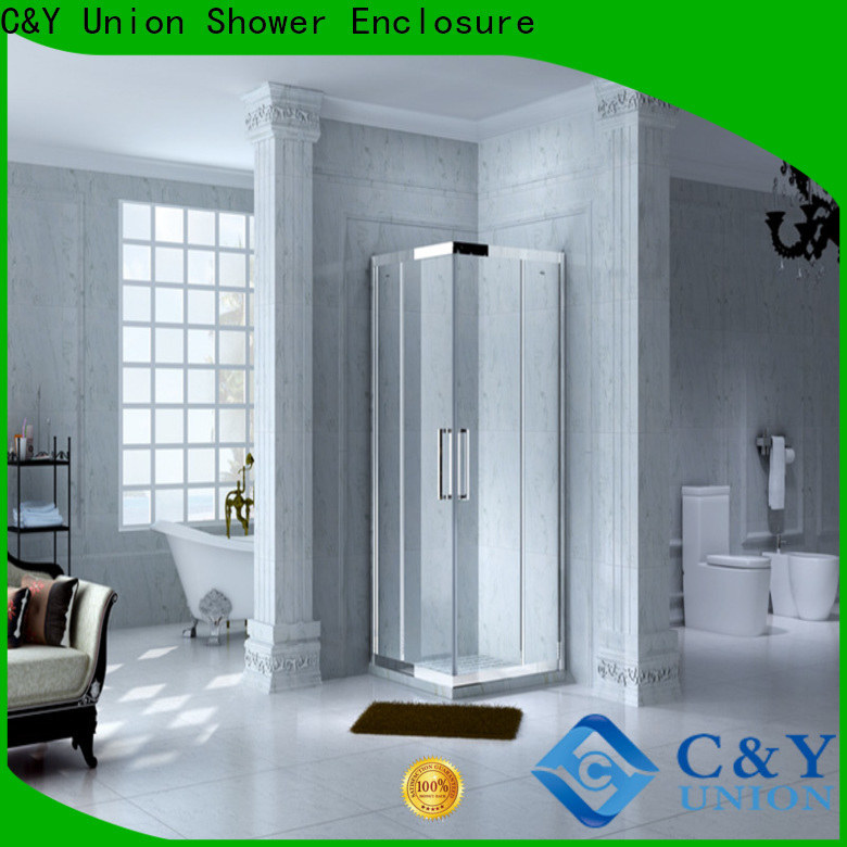 C&Y Union framed glass shower door for sale for bath
