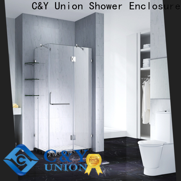 C&Y Union firm frameless shower enclosure factory for tub