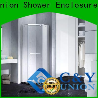 stable frameless shower enclosure for bathtub