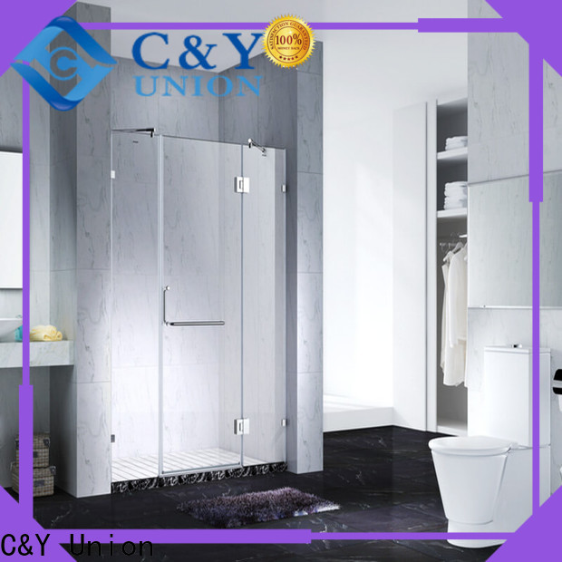 C&Y Union high quality frameless shower screen shower panels for bathroom