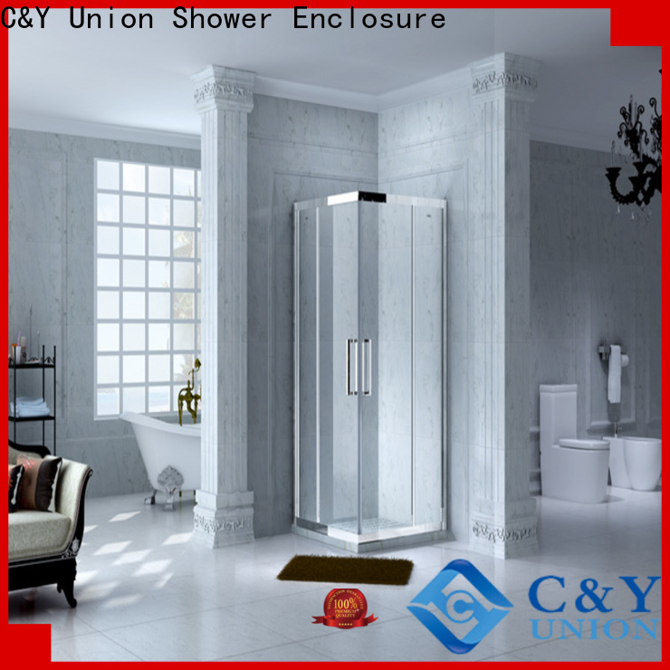 aluminum semi framed shower manufacturer for corner