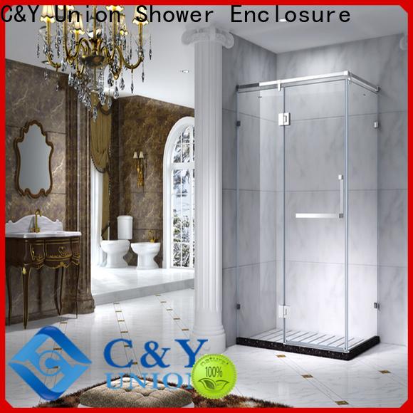 C&Y Union custom framed shower doors for bagnio