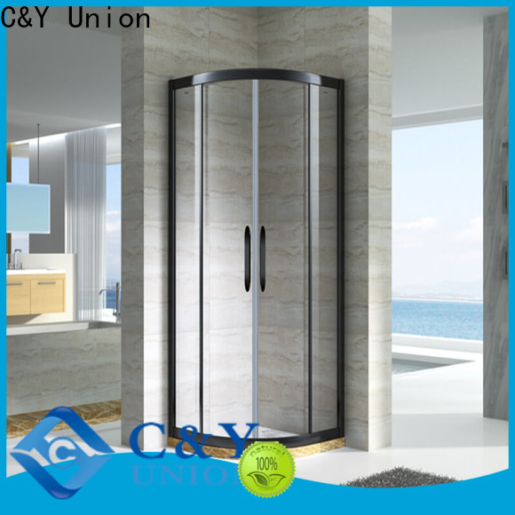 C&Y Union framed shower glass doors manufacturer for alcove
