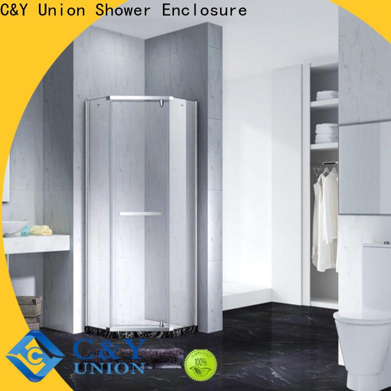 C&Y Union frameless glass shower doors shower screen for tub