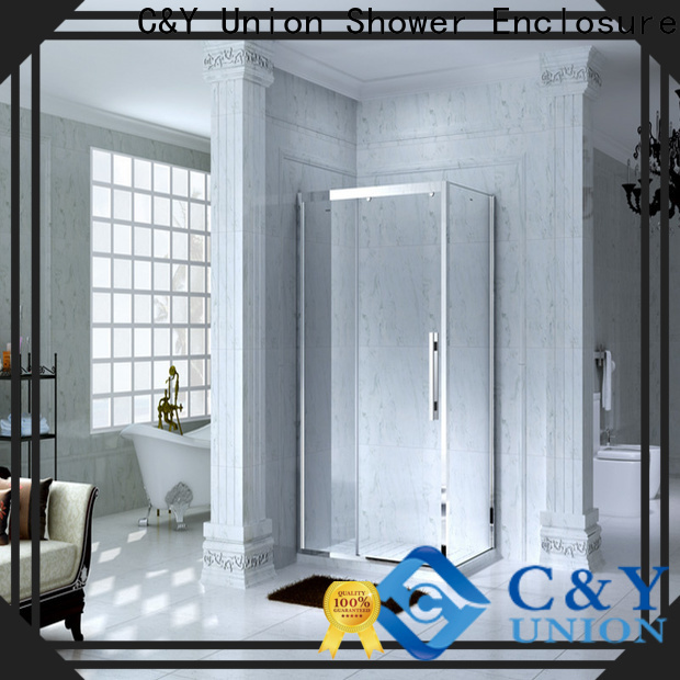 C&Y Union practical custom framed shower doors for sale for standalone showers