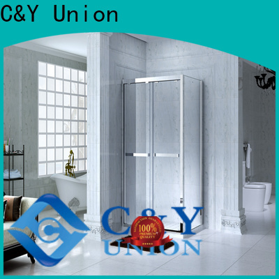 C&Y Union colorful framed shower glass doors for tub for standalone showers