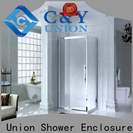 colorful framed glass shower enclosure for tub for alcove