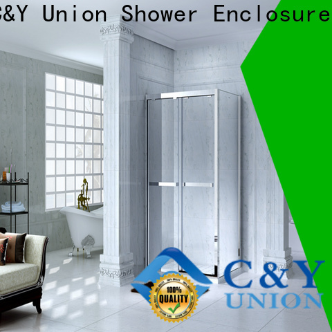 C&Y Union framed glass shower door for sale for bagnio