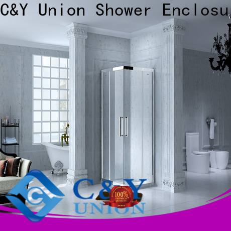 C&Y Union semi framed shower with sliding door for alcove