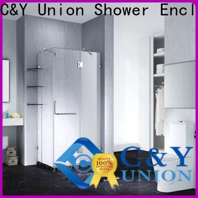 C&Y Union high quality frameless glass shower doors for bathtub