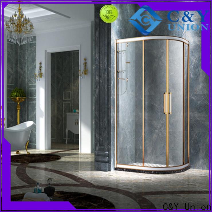 elegant semi framed shower for tub for standalone showers