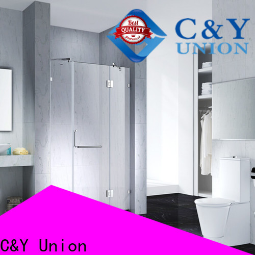 C&Y Union frameless glass shower doors cubicles for bathroom