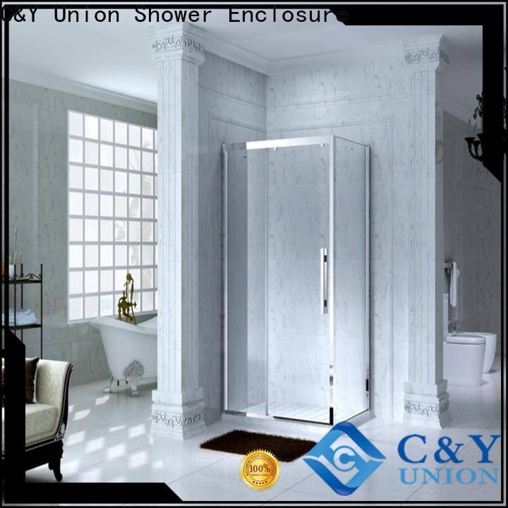 C&Y Union semi framed shower for tub for bathroom