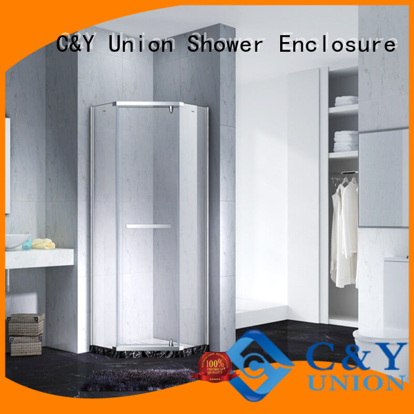 C&Y Union stable semi frameless shower door cubicles for bath