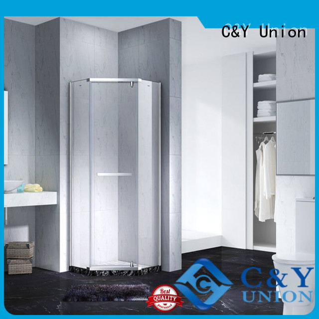 C&Y Union stable frameless glass shower doors shower panels for bagnio