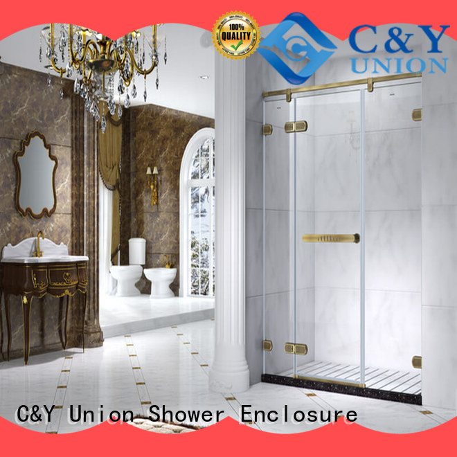 C&Y Union high quality glass shower enclosures shower screen for bath