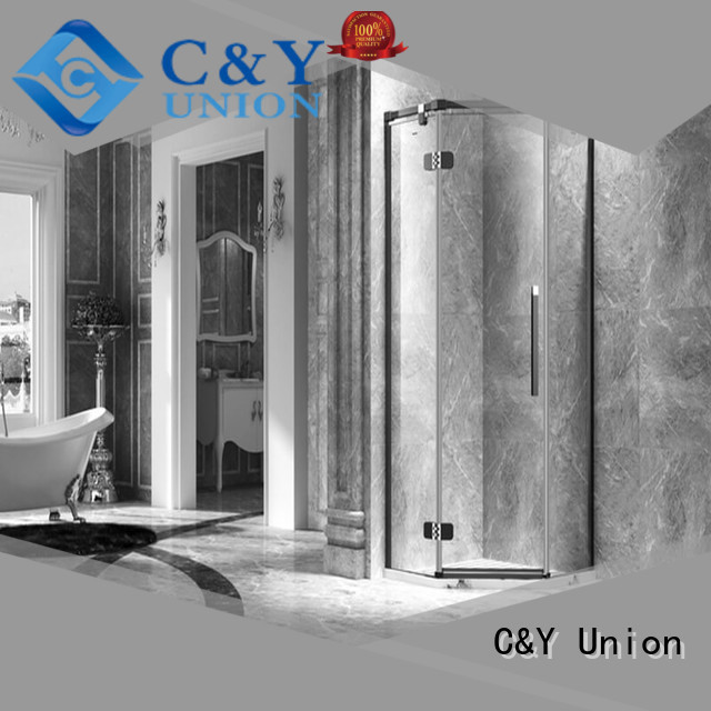 C&Y Union firm frameless glass shower shower screen for bagnio