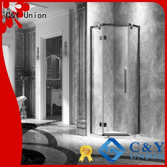 C&Y Union elegant frameless glass doors for bathtub